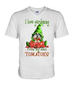 I love gardening from my head tomatoes Gnomie v-neck