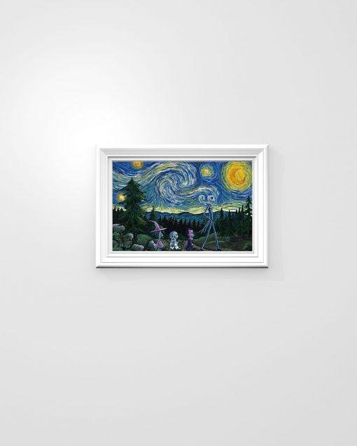 Jack Skellington Nightmare - Starry Night poster1