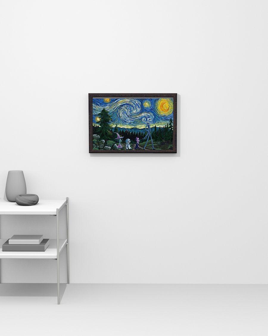 Wonderful Jack Skellington Nightmare - Starry Night poster