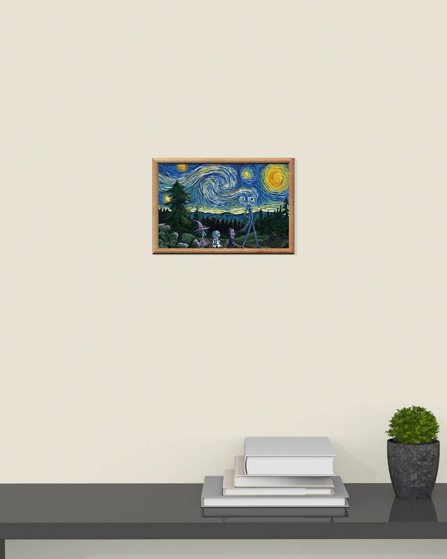 Drop Shipping Jack Skellington Nightmare - Starry Night poster