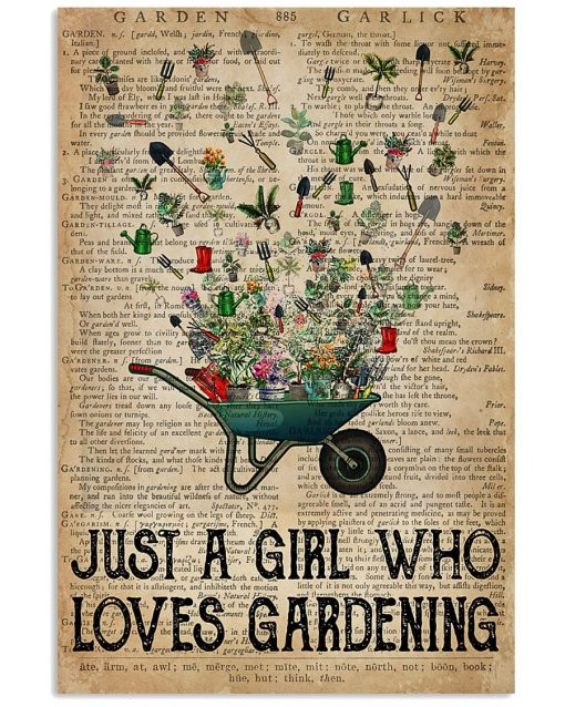 Just a girl who loves gardening vintage poster