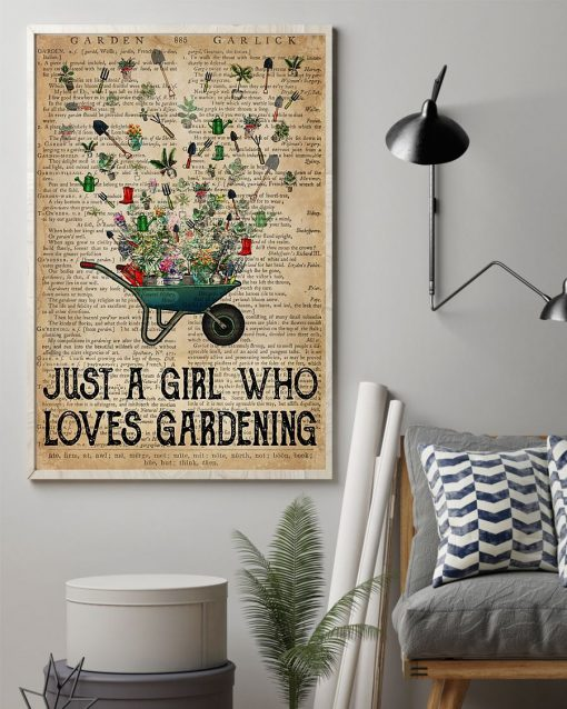 Just a girl who loves gardening vintage poster1