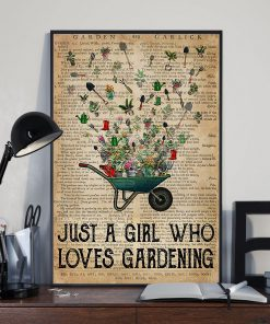 Just a girl who loves gardening vintage poster2