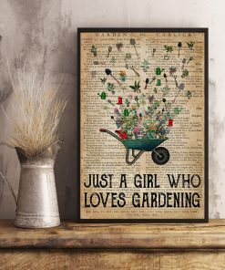 Just a girl who loves gardening vintage poster3