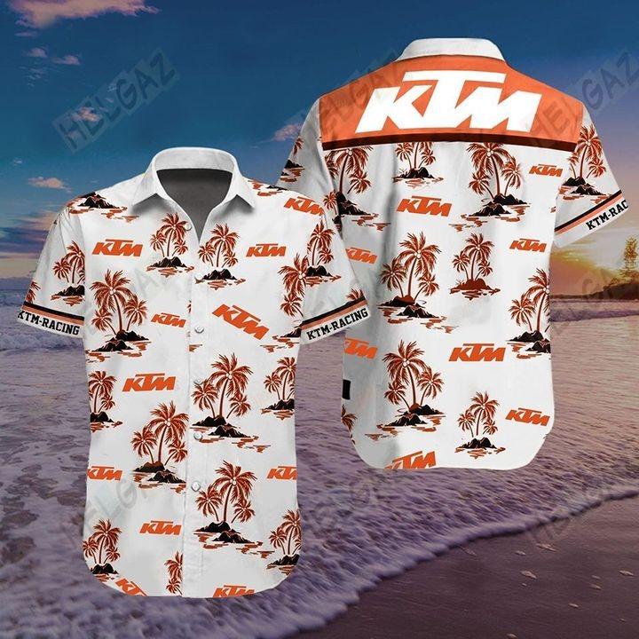 KTM Racing 3D Hawaiian shirt