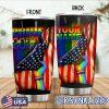 LGBT Pride 2020 American Flag personalized tumbler 1