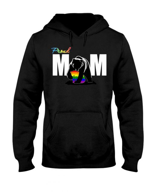 LGBT Proud Bear Mom hoodie