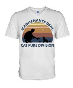 Maintenance Dept Cat puke division V-neck