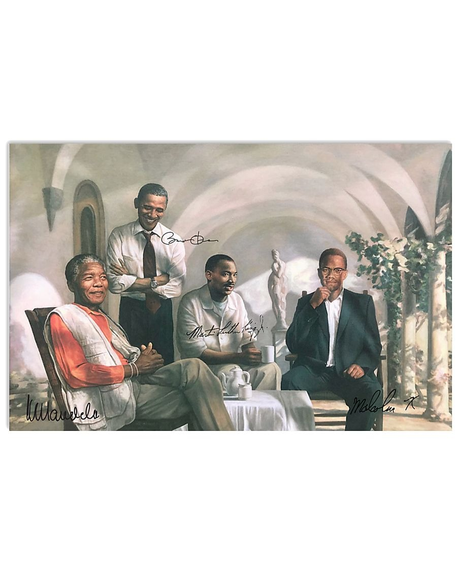 CIVIL RIGHTS LEADERS REUNION POSTER size 24x36 KING MANDELA OBAMA