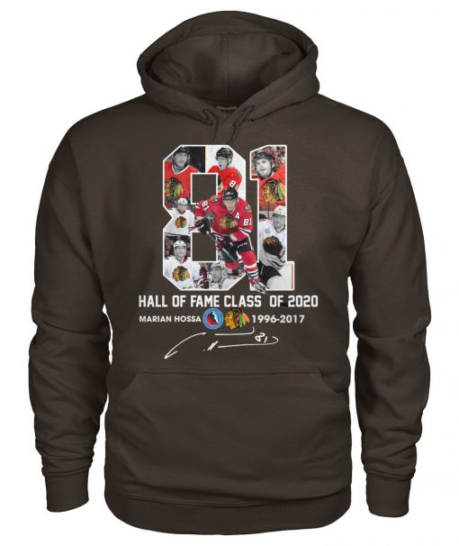 Marián Hossa 81 Hall of fame class of 2020 hoodie