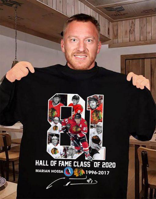 Marián Hossa 81 Hall of fame class of 2020 shirt 0