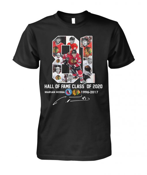 Marián Hossa 81 Hall of fame class of 2020 shirt