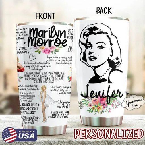 Marilyn Monroe personalized tumbler 1
