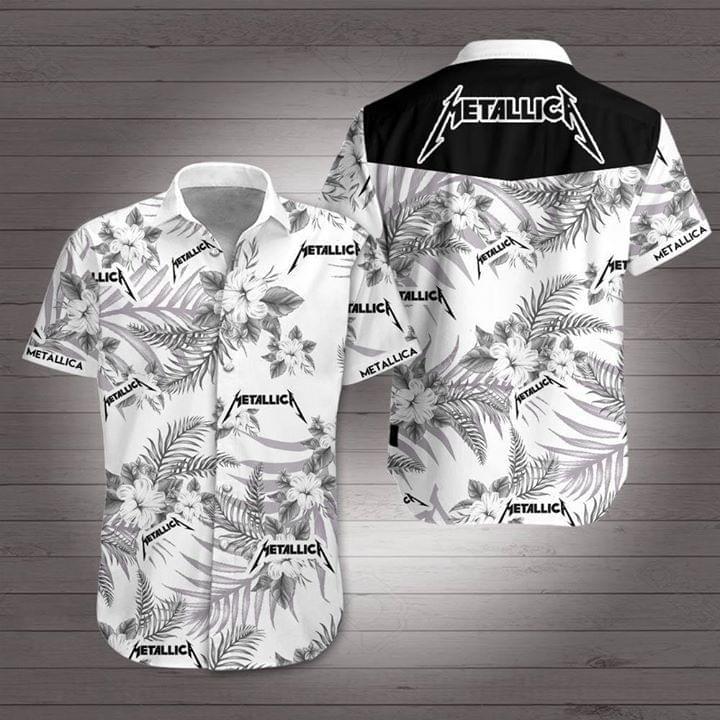 Metallica Flower Hawaiian 3D Shirt