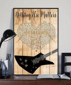 Metallica - Nothing Else Matters Lyrics poster 1