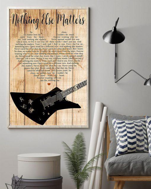 Metallica - Nothing Else Matters Lyrics poster 2
