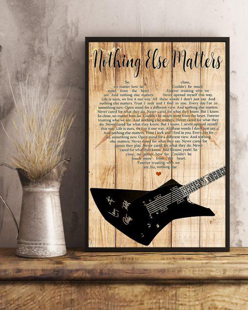 Metallica - Nothing Else Matters Lyrics poster