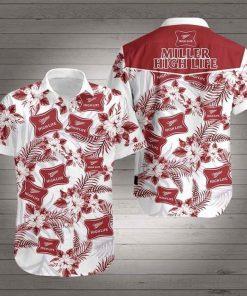 Miller High Life Flower Hawaiian 3D Shirt