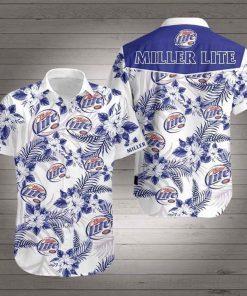 Miller Lite Flower Hawaiian 3D Shirt