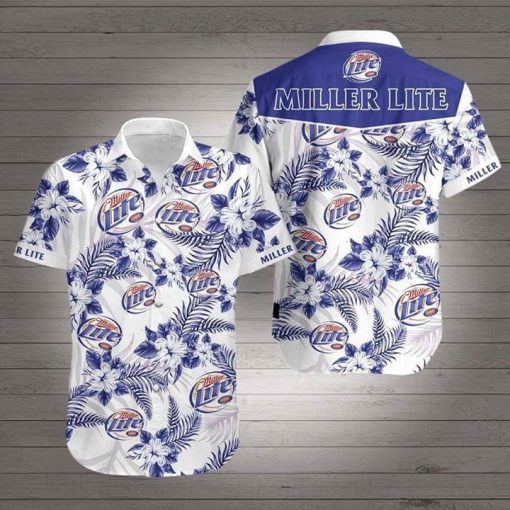 Miller Lite Flower Hawaiian 3D Shirt