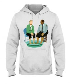Mister Rogers and Officer Clemmons having a foot bath hoodie