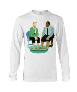 Mister Rogers and Officer Clemmons having a foot bath long sleeved