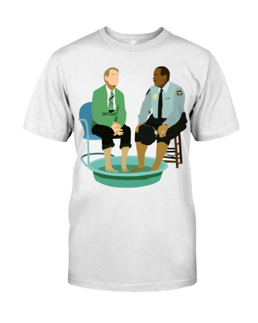 Mister Rogers and Officer Clemmons having a foot bath shirt
