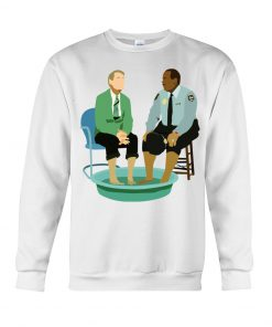 Mister Rogers and Officer Clemmons having a foot bath sweatshirt