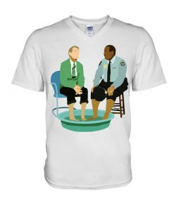 Mister Rogers and Officer Clemmons having a foot bath v-neck