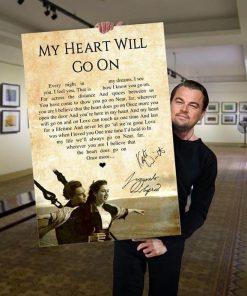 My Heart Will Go On - Céline Dion Lyrics poster