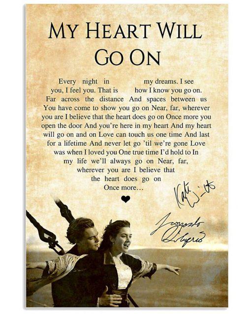 My Heart Will Go On - Céline Dion Lyrics poster1