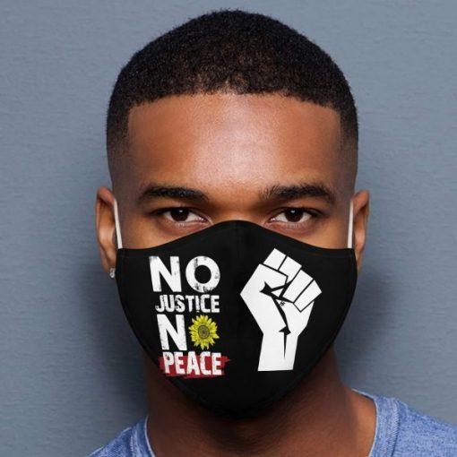 No Justice No Peace Black Lives Matter mask1