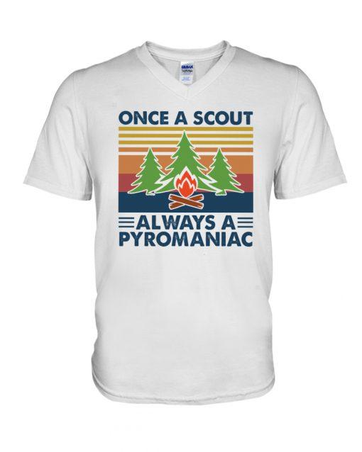 Once A Scout Always A Pyromaniac v-neck