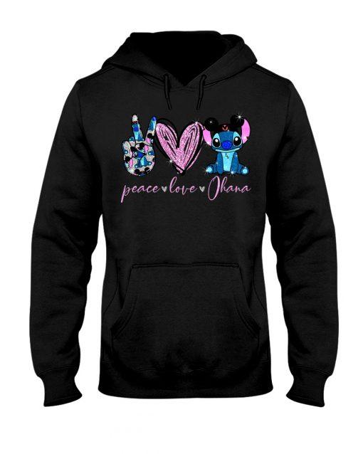 Peace Love Ohana Stitch hoodie