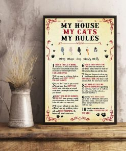 Personalized My House My Cats My Rules Poster3