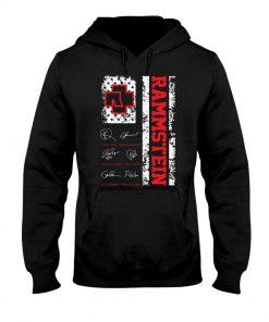 Rammstein American Flag Signatures hoodie