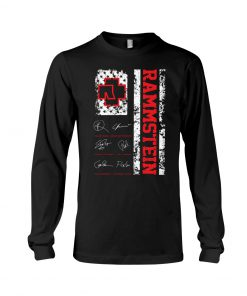 Rammstein American Flag Signatures long sleeved