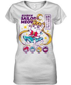 Sailor Meow V-neck