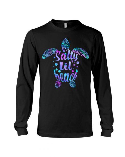 Salty Lil' Beach turtle Long sleeve