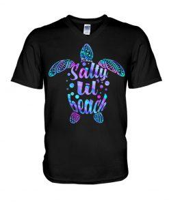 Salty Lil' Beach turtle V-neck