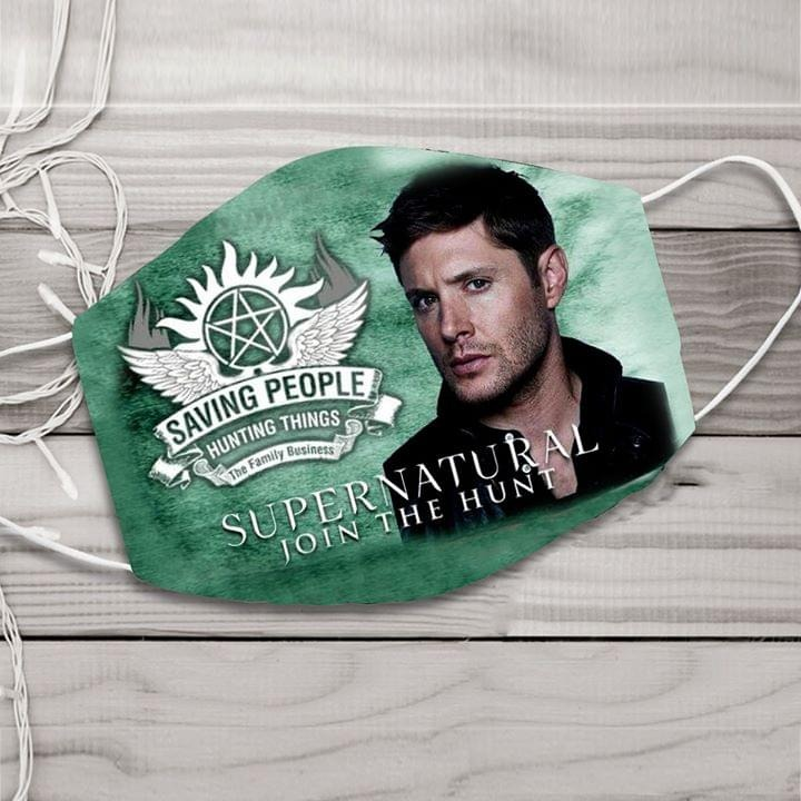 Saving People hunting things Supernatural Join the Hunt cloth face mask