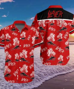 Slayer Coconut Tree Pattern Hawaiian Shirt