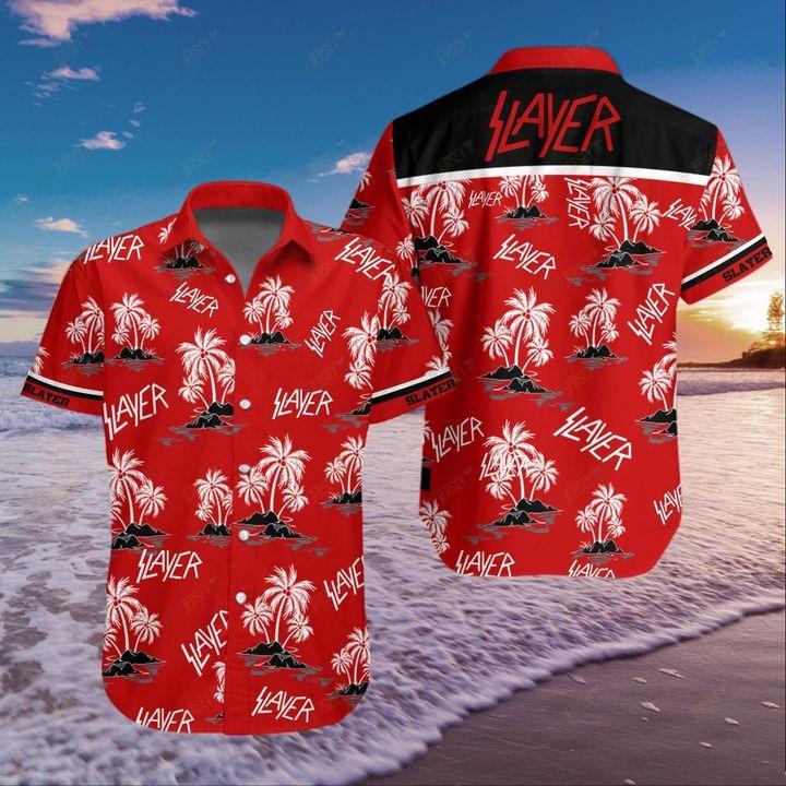 Slayer Coconut Tree Pattern Hawaiian Shirt