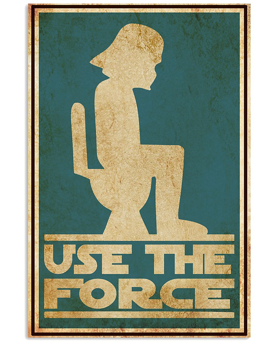 Print On Demand Star Wars Use the force toilet poster