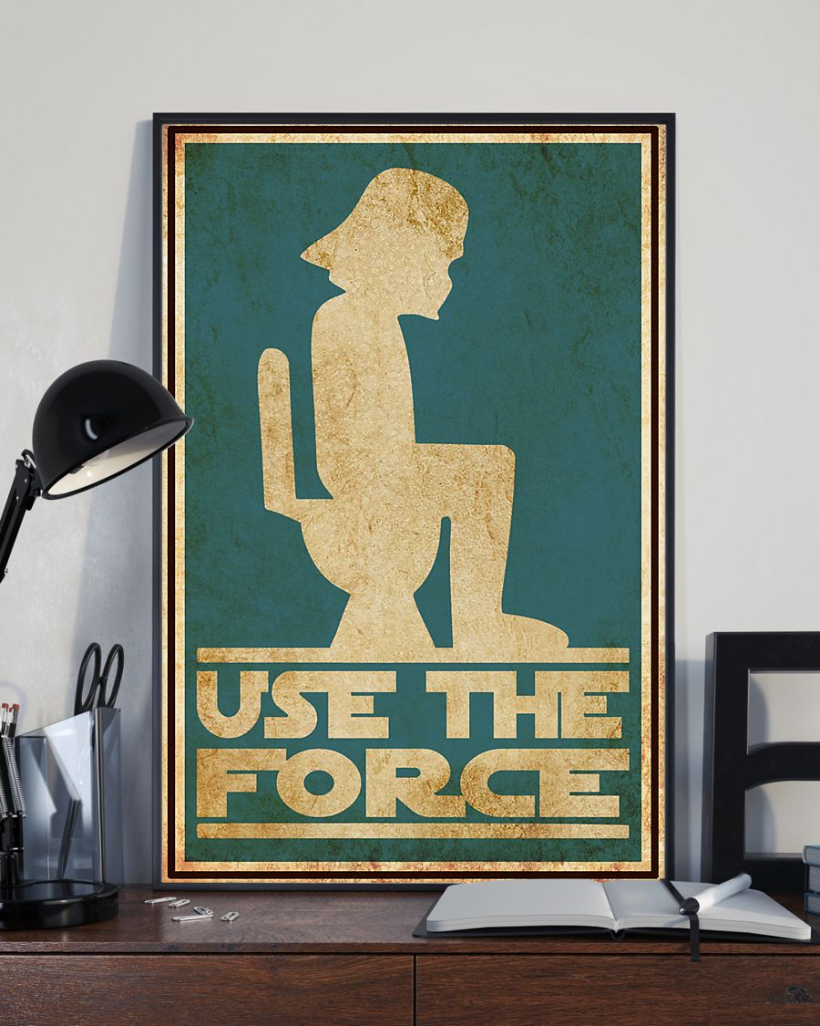 Luxury Star Wars Use the force toilet poster