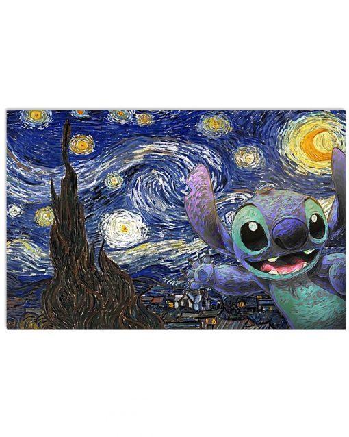 Stitch - Starry Night poster 1