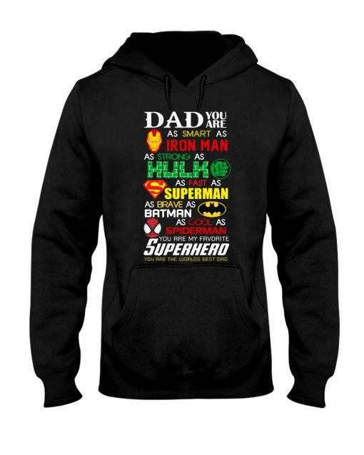 Superhero Dad Iron man Hulk Superman Batman shirt, hoodie, tank top