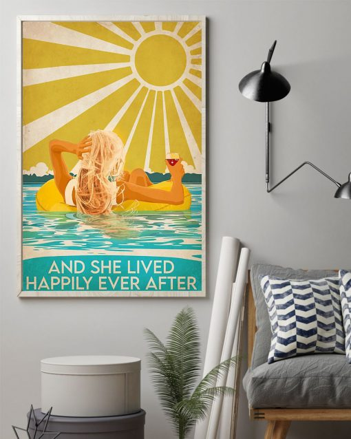 Swimming Beach And she lived happily ever after poster 2