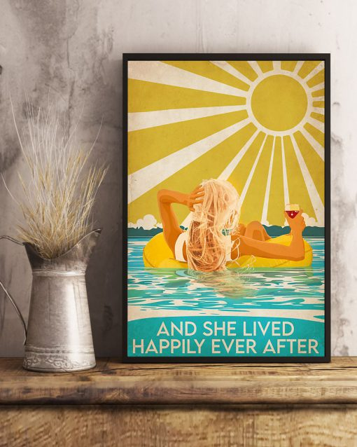 Swimming Beach And she lived happily ever after poster 5