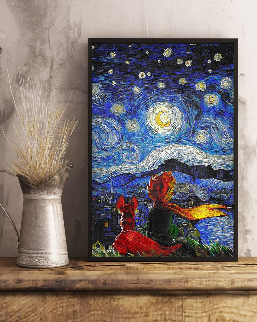Luxury The Little Prince Starry Night art poster